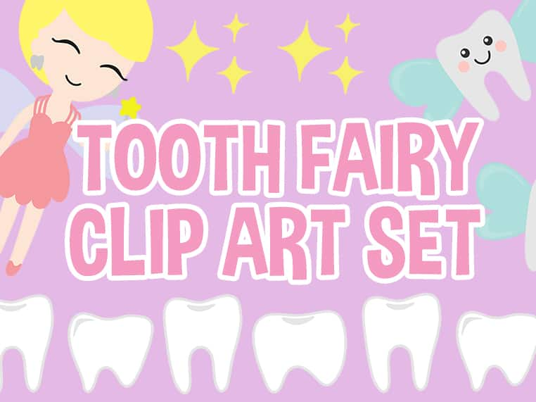 Tooth Fairy Clip Art Set Featured Image