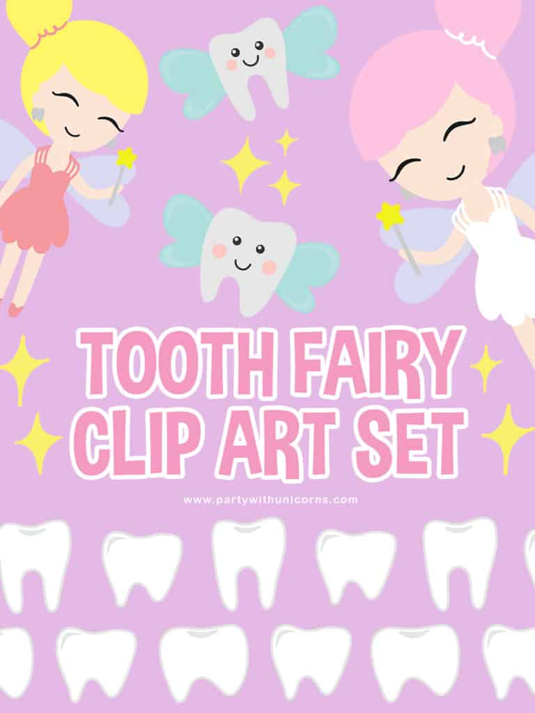 Tooth Fairy Clip Art Set Pinterest Tile