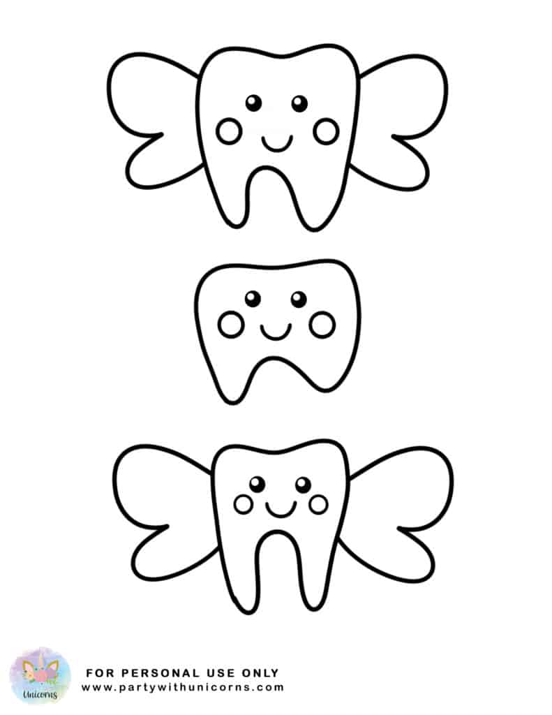 Tooth Fairy Coloring Page 3