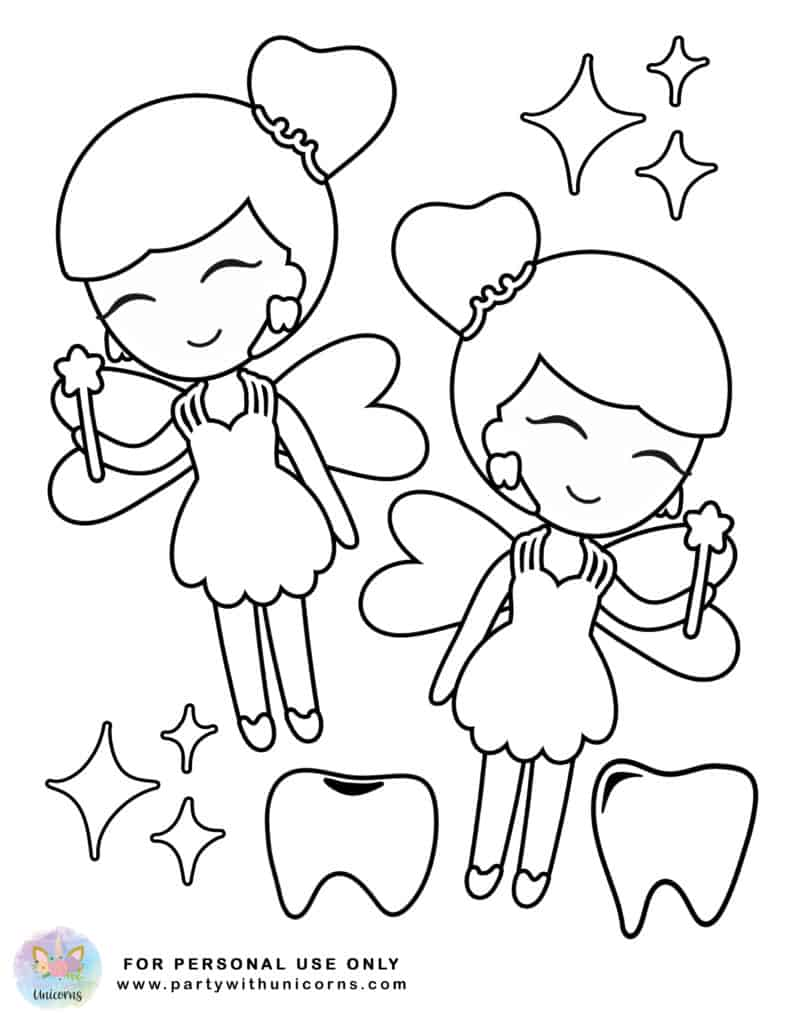 Tooth Fairy Coloring Page 5