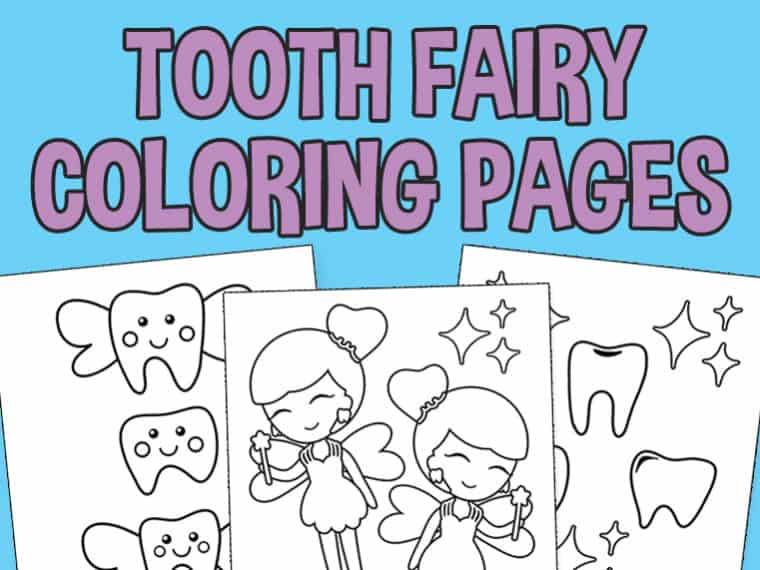 Tooth Fairy Coloring Page Featured Image