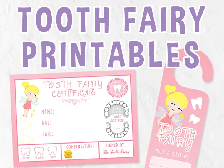 image regarding Printable Tooth Fairy Certificate referred to as Enamel Fairy Cost-free Printables  Celebration with Unicorns