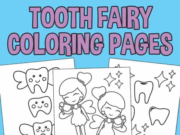 Tooth Fairy Coloring Pages - Free Download