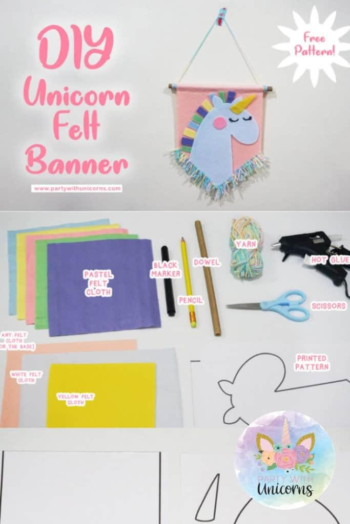 Unicorn Felt Banner