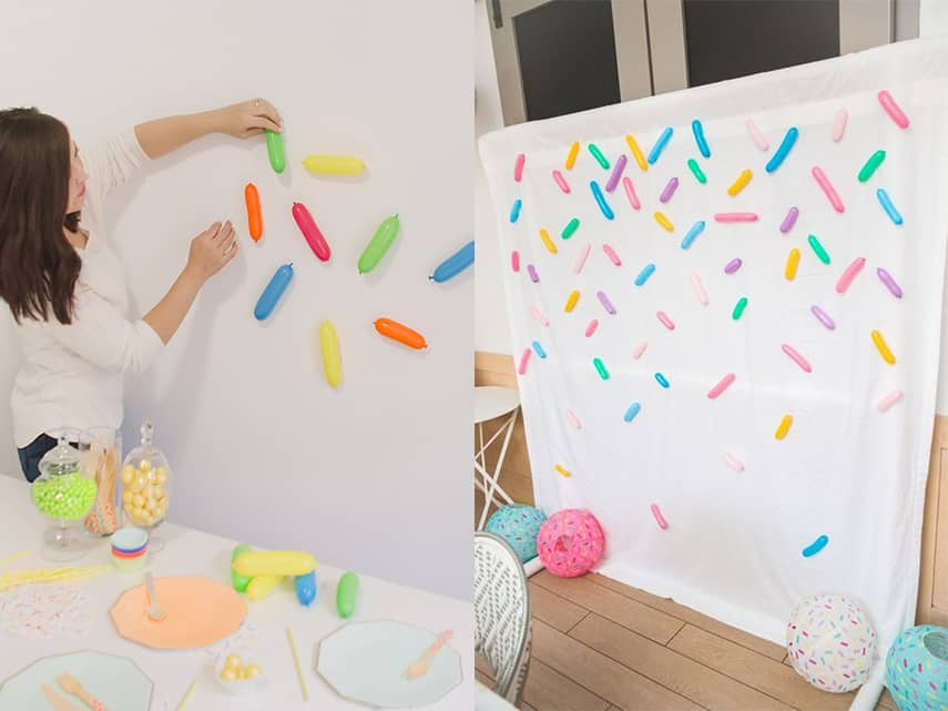 DIY Sprinkle Balloon Wall Accent