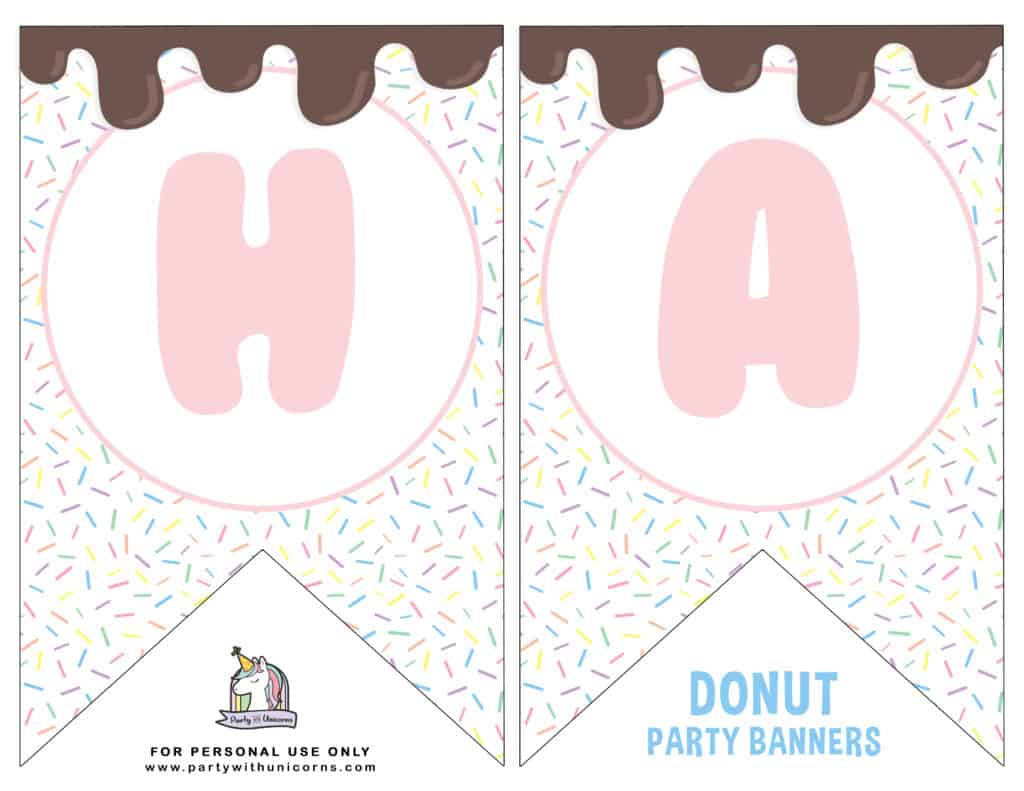 DONUT PARTY BANNER PAGE 1