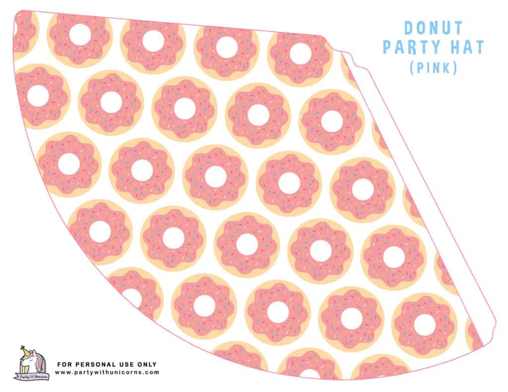 DONUT PARTY HAT - PINK