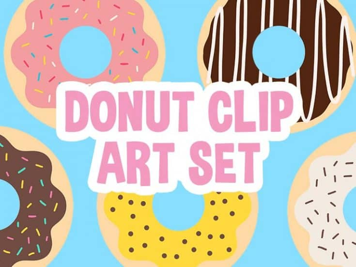 Yummy Donut Clip Art Set - Free Download