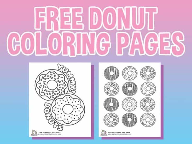 10 Donut Coloring Pages - Free Download