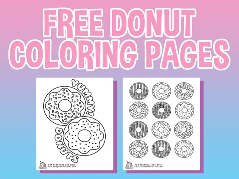 Donut Coloring Page Featured Image