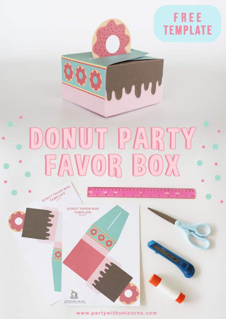 Donut Favor Box