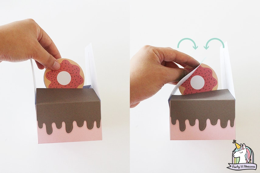 Donut Favor Box Step 8