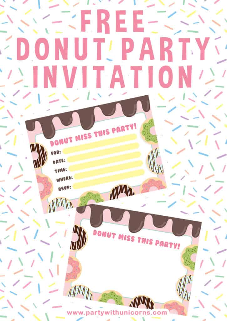 Donut Party Invitation Template Free 11