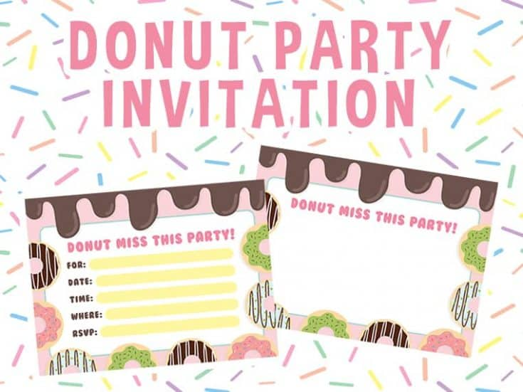Donut Party Invitation  - Free Download