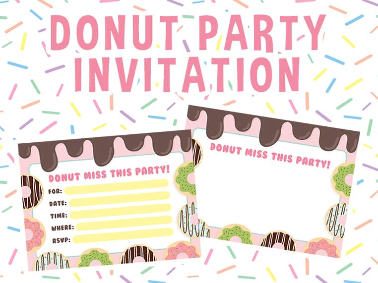 Donut Party Invitation Featured Image