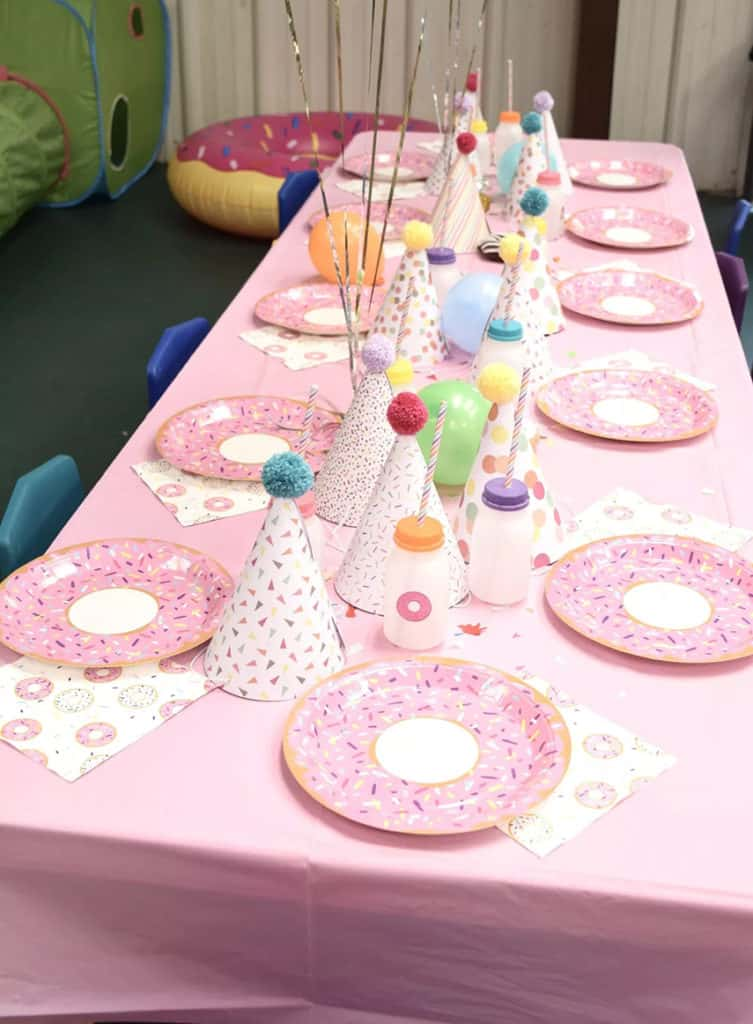 Donut Party Table Set-up