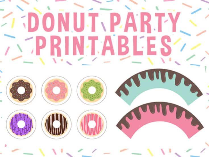 Free Donut Party Printables Set