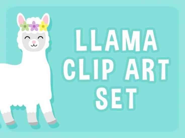 Llama Clip Art Set - Free Download