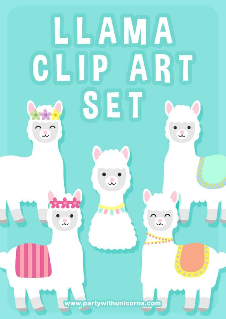 Llama Clip Art Set