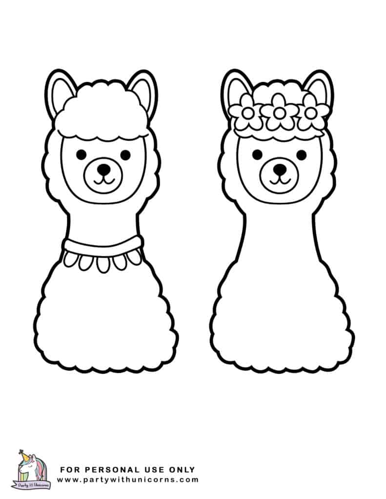 Llama Coloring Pages Free Download