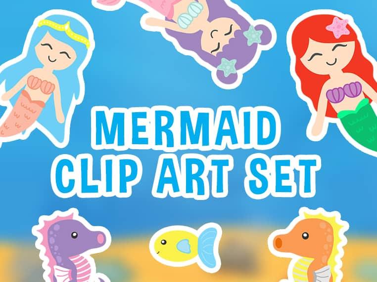 Mermaid Clip Art Featured Image
