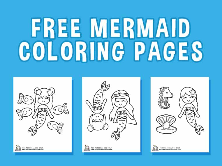 Mermaid Coloring Featured Image