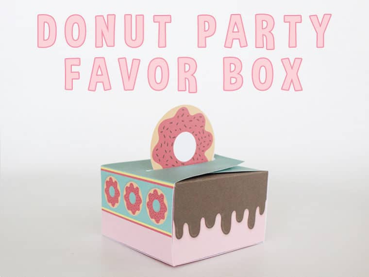 Printable Donut Favor Box for download