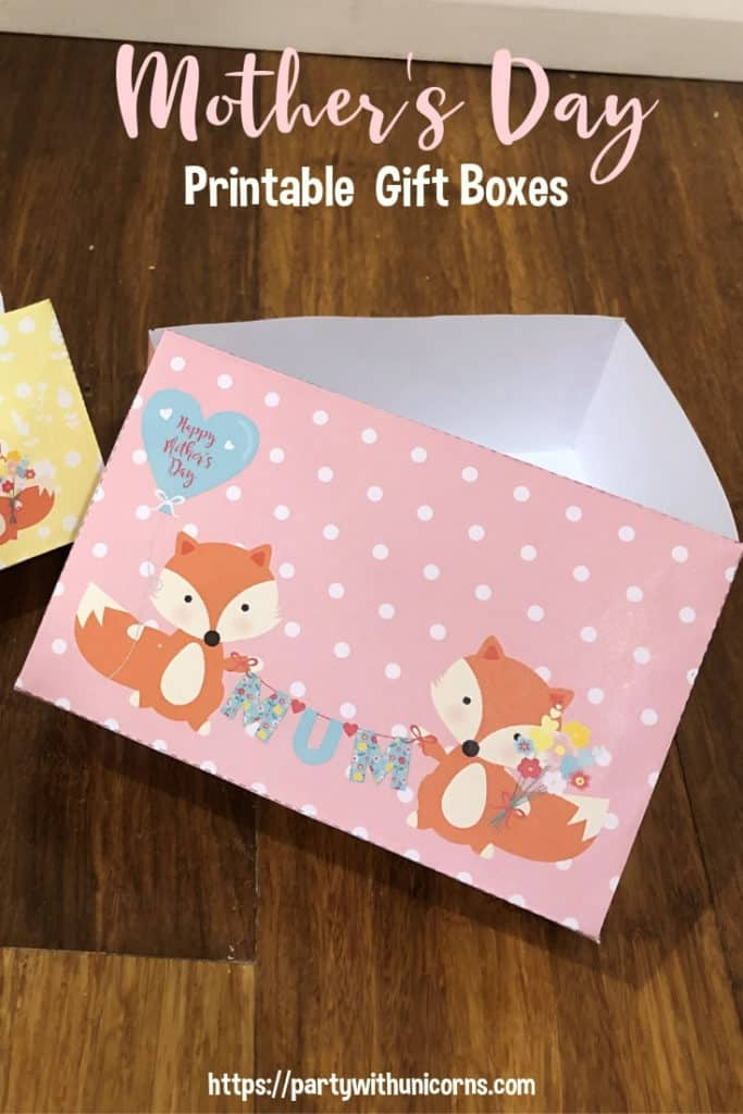 Printable Mother's Day Gift Box image