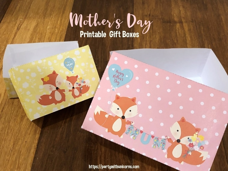Printable Mother Day Gift Boxes