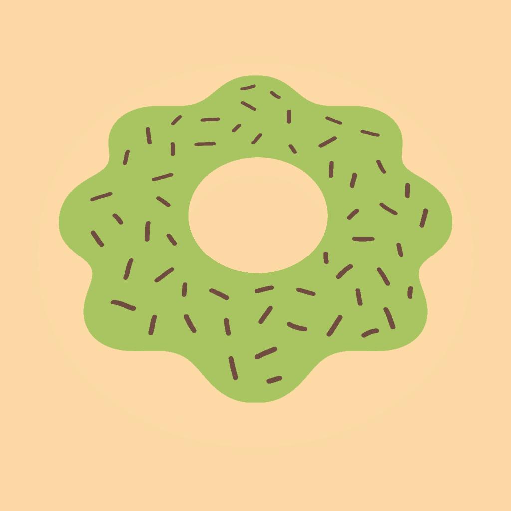 Green Glazed Donut clip art
