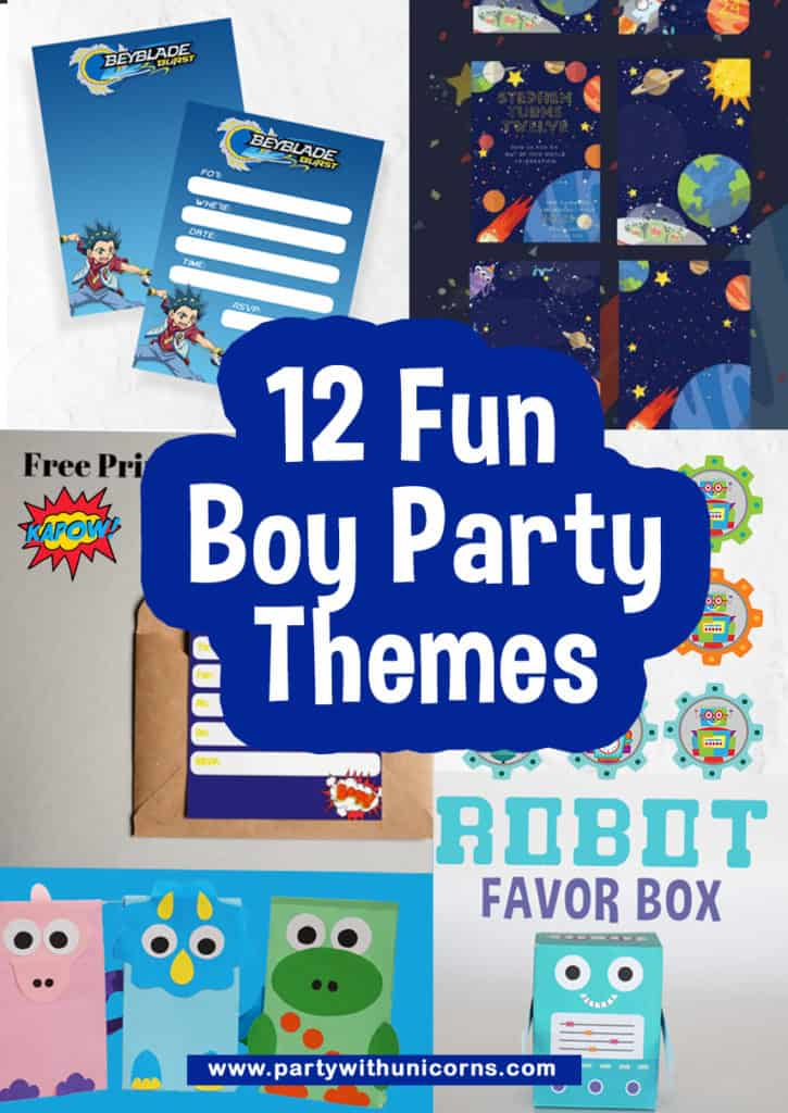 12 fun Boy party themes