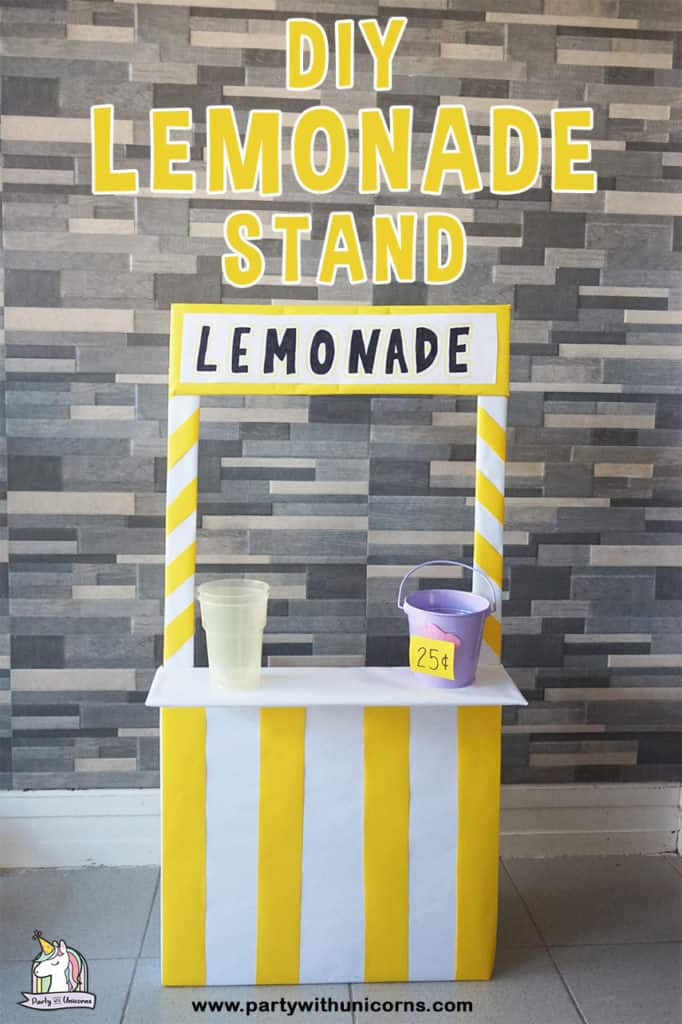 DIY Cardboard Lemonade Stand for Kids