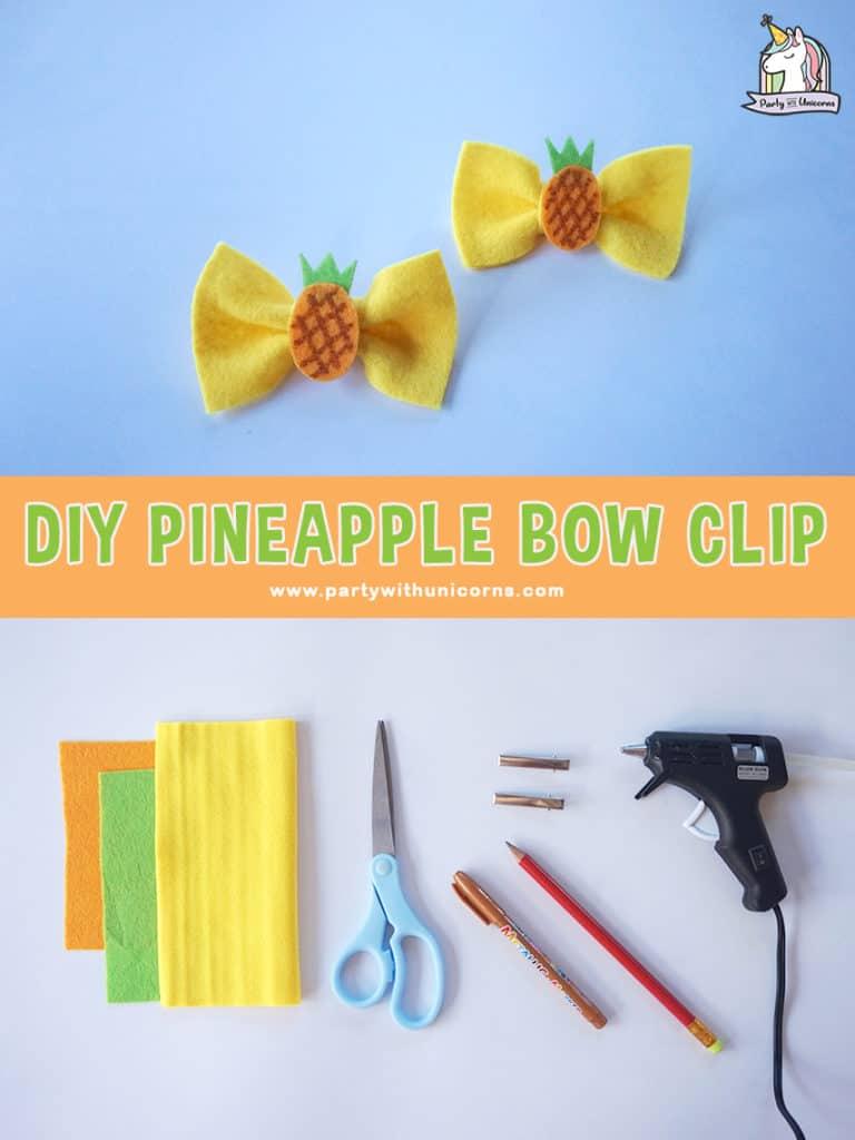 Pineapple Hair Bows Craft
