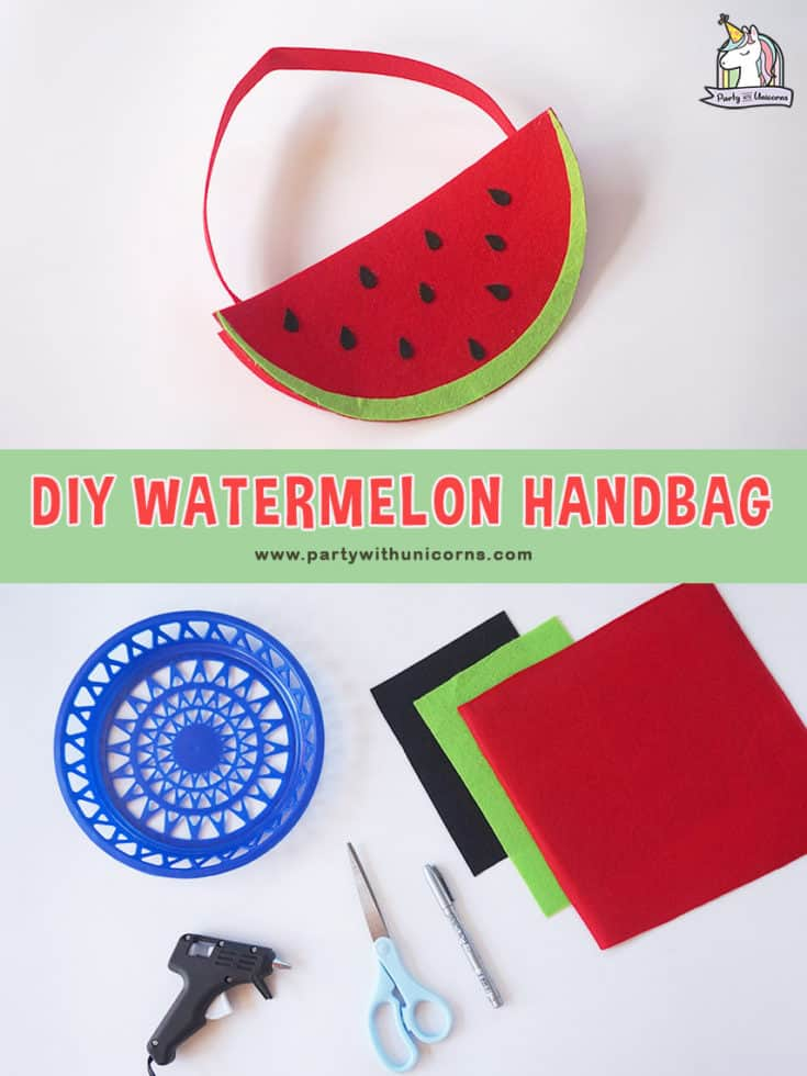Summer Crafts for Kids - DIY Watermelon Handbag