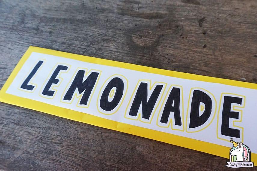 Lemonade Stand Step 9