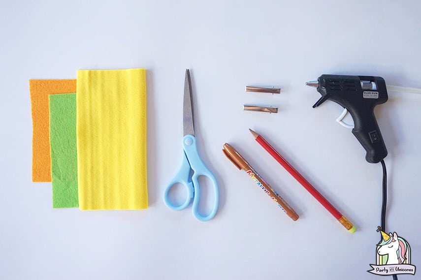 Pineapple Bow Clip Supplies Needed