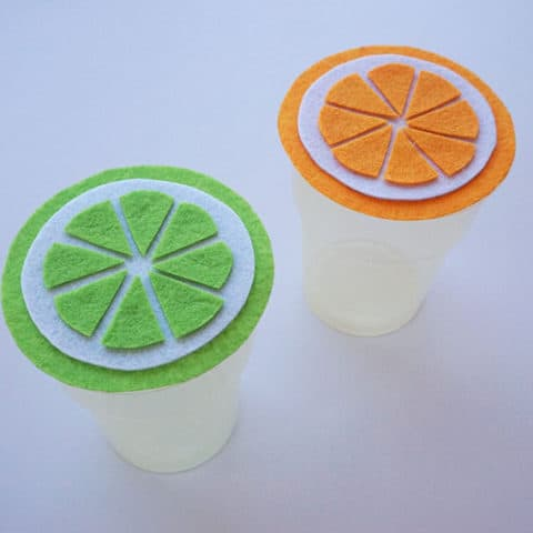 Summer Citrus Cup Cover Craft