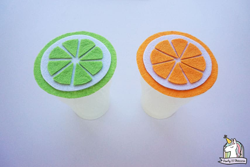 Summer Citrus Cup Cover Finished Craft