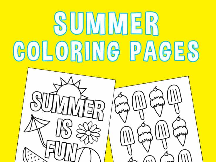 Summer Coloring Pages Featured Image