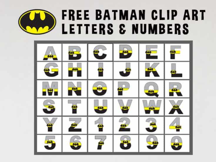 Batman Alphabet - Clip Art Letters Set