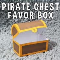 PrintablePirate Treasure Chest Favor Box