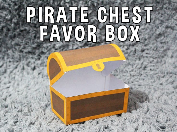 Pirate Chest Favor Box Featured Image