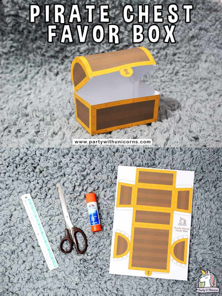 Pirate Treasure Chest Favor Box