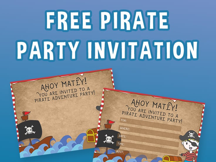 ree printable pirate party invitations