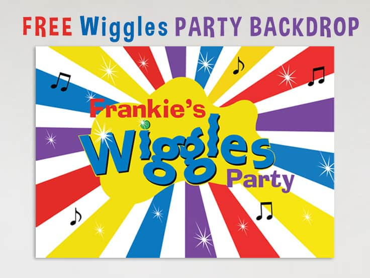 Wiggles Party Birthday Banner