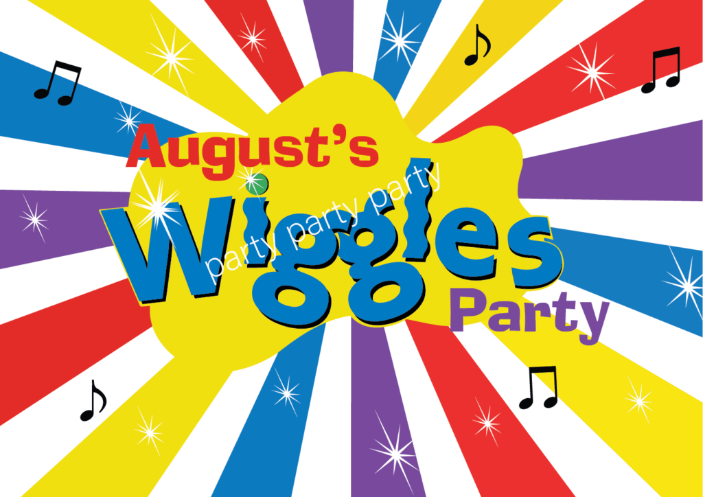 Wiggles Birthday Party Backdrop