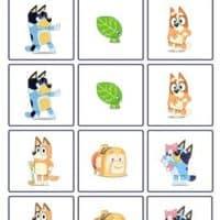 Bluey Printable Memory Game