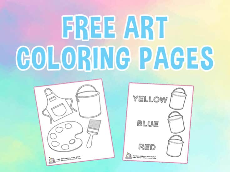Free Art Coloring Pages