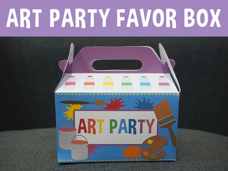 Art Party Favor Box