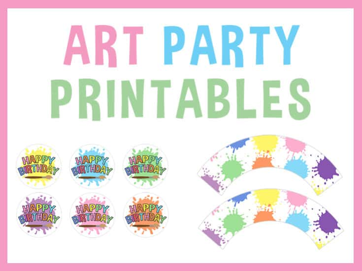 Art Party Printables